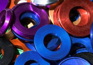 Anodized Aluminum Beauty Washers