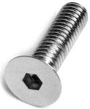 Flat Head Socket Cap Screws Chrome - 4Mx30Mx.7