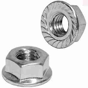 JIS Hex Flange Nut 10.9 Zinc (50pc) JISB1190M6