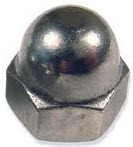 Stainless Steel Metric Acorn (Cap) Nuts - 8Mx1.25 (10pc)
