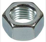Metric Hex Nuts Zinc Plate - 8Mx1.25x13AF (50pc)