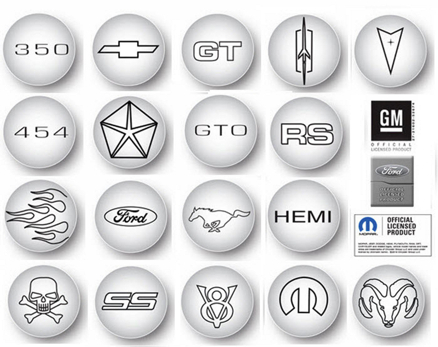 Chrome Plated Logo Valve Stem Caps